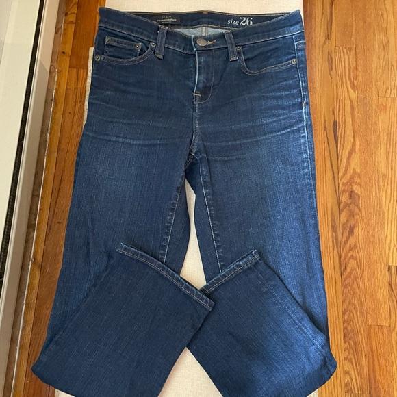 Jcrew vintage straight crop jeans